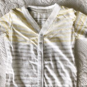 White, Gray and Yellow Footed organic Onesie